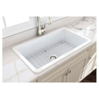 View Photo: Cusine 81 x 48 Inset / Undermount Fine Fireclay Sink
