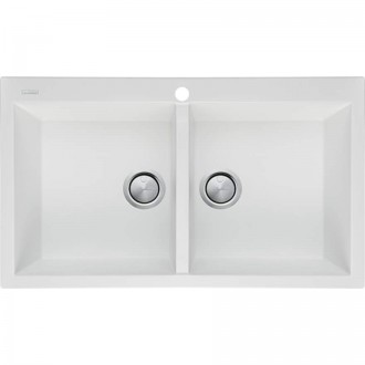 View Photo: Oliveri Santorini White Double Bowl Top Mount