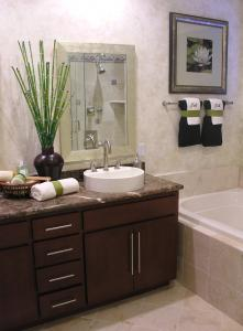 View Photo: Bathroom with Natural Stone and Granite Look