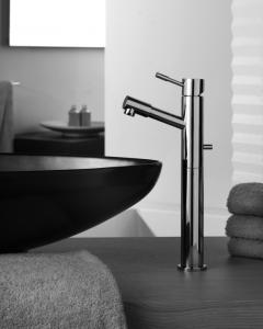 View Photo: Black Washbowl  and Dark Steel Faucet