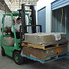 Fork Lift on site for handling pallets and stock