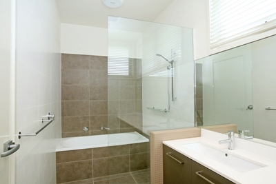 View Photo: Two-tone Bathroom Tiling