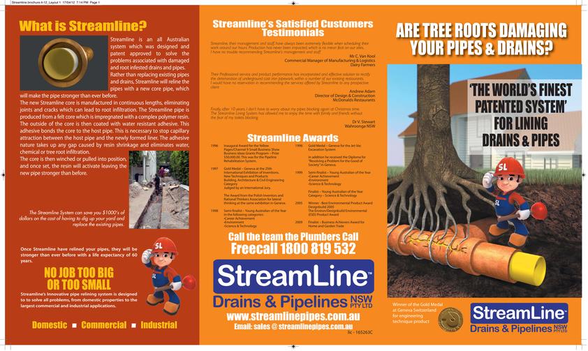 View Brochure: Streamline Drains Brochure