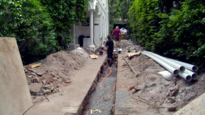 View Photo: Destruction from replacing Pipes