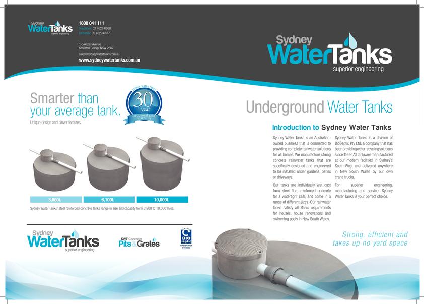 View Brochure: Sydney Water Tanks