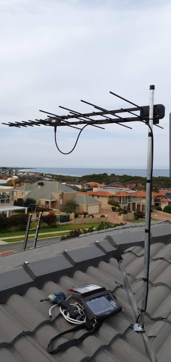 Residential TV aerial installation