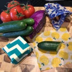 View Photo: Easy Beesy Reusable Food Wraps - 4 Pack