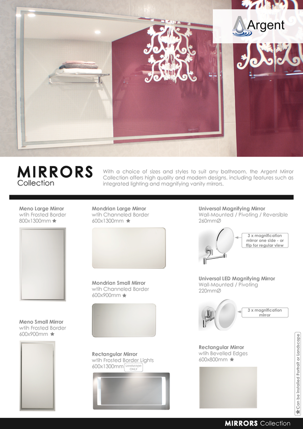 View Brochure: Argent Mirrors 2015