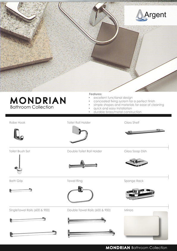 Browse Brochure: Argent Mondrian Accessories