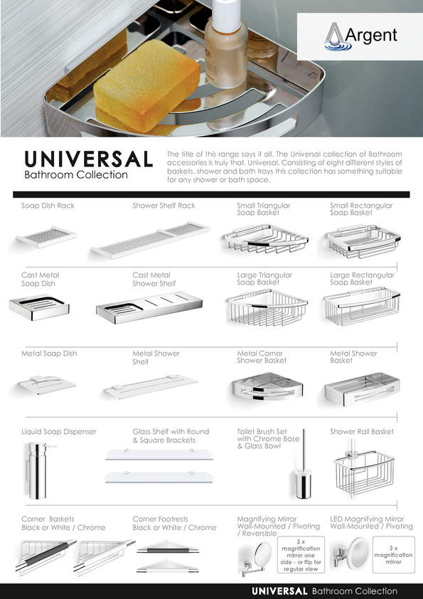 Browse Brochure: Argent Universal 2015 Accessories