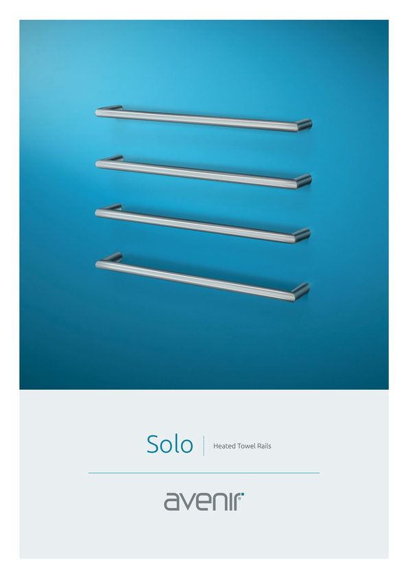Browse Brochure: Avenir Solo Heated Towel Rail