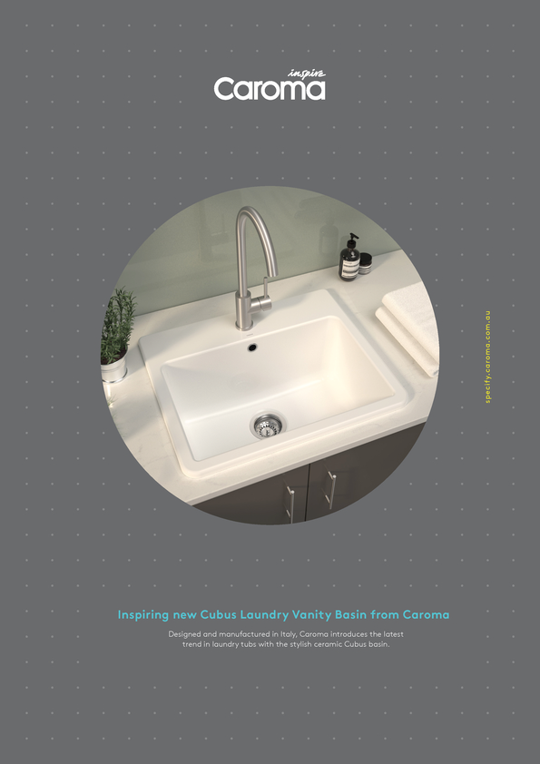 View Brochure: Caroma Cubus Laundry Basin