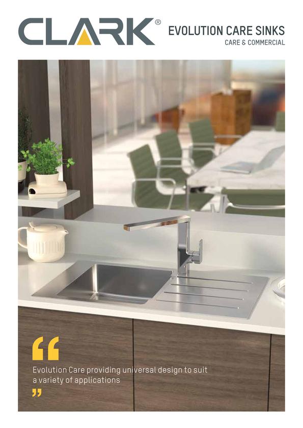 Browse Brochure: Clark Evolution Care Sink Range