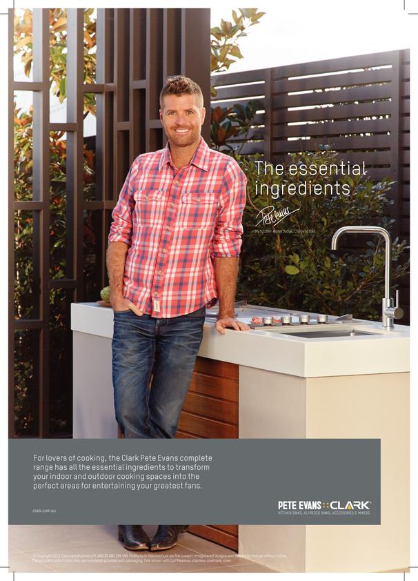 View Brochure: Clark Pete Evans Alfresco Sink Mixers
