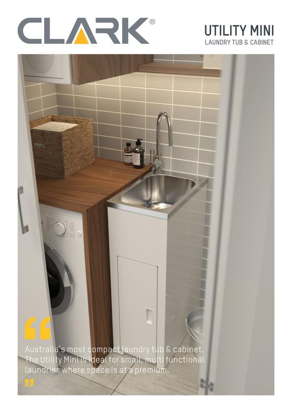 View Brochure: Clark Utility Mini Laundry Tub