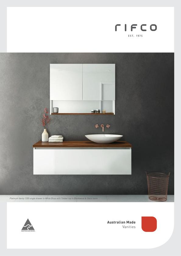 Browse Brochure: Rifco Bathroom Vanity