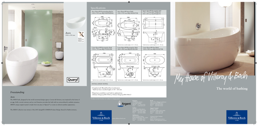 View Brochure: Villeroy & Boch Luxury Baths