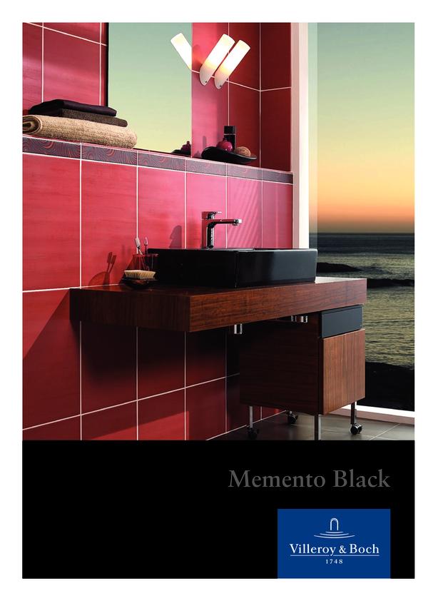 Browse Brochure: Villeroy & Boch Memento Black Basin
