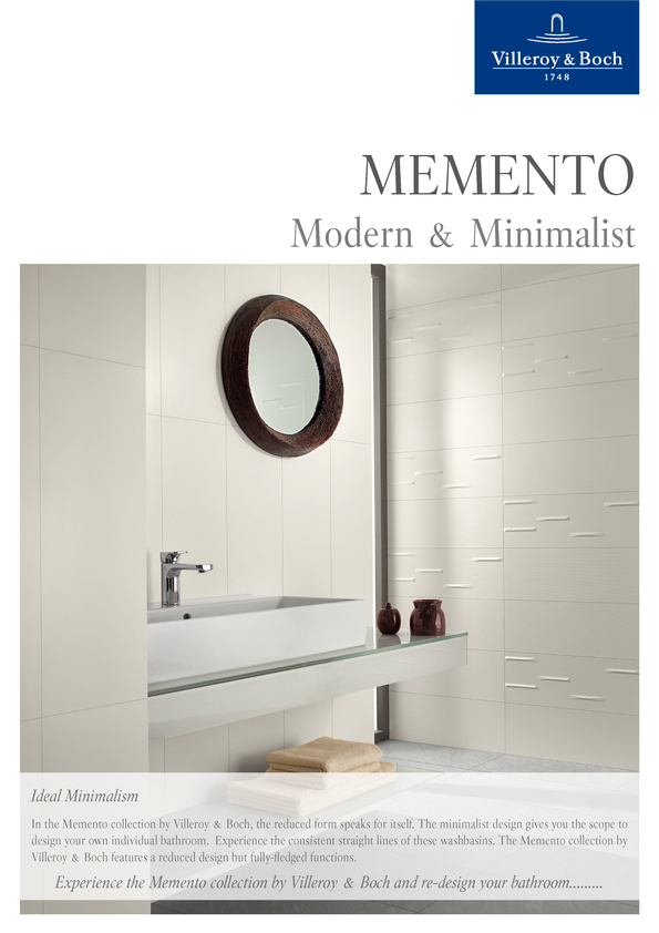 Browse Brochure: Villeroy & Boch Memento White Basin