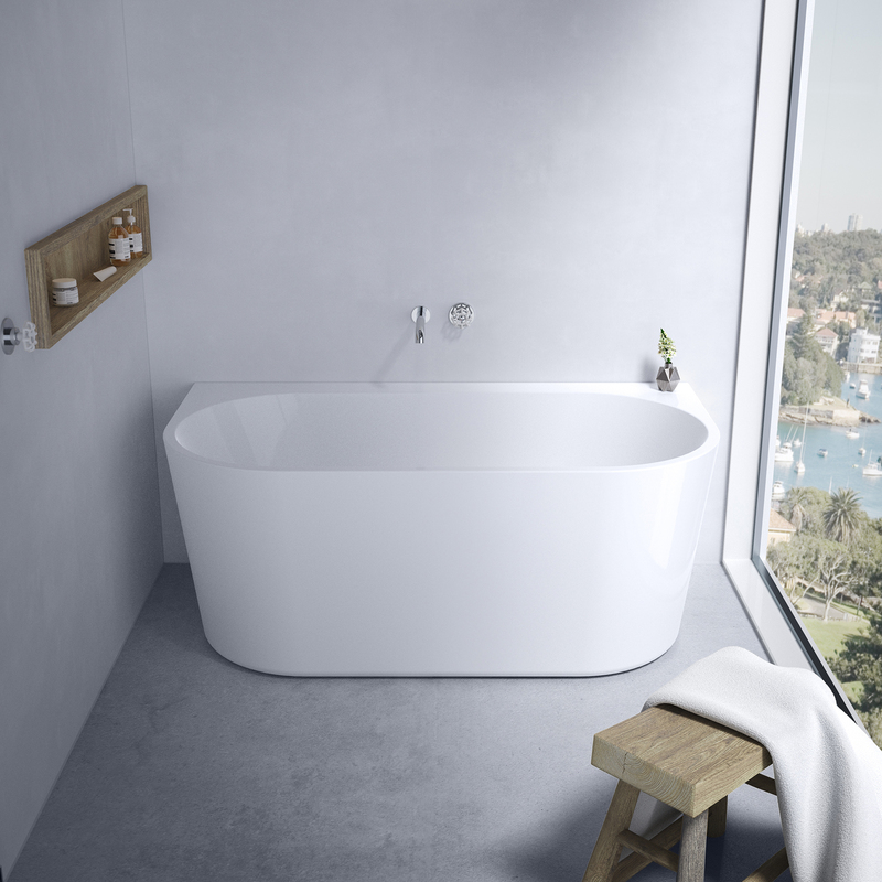 View Photo: Caroma Aura 1400, 1600 or 1800 Back To Wall Freestanding Bath