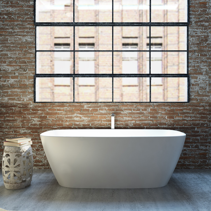 Caroma Contura 1700 Solid Surface Freestanding Bath