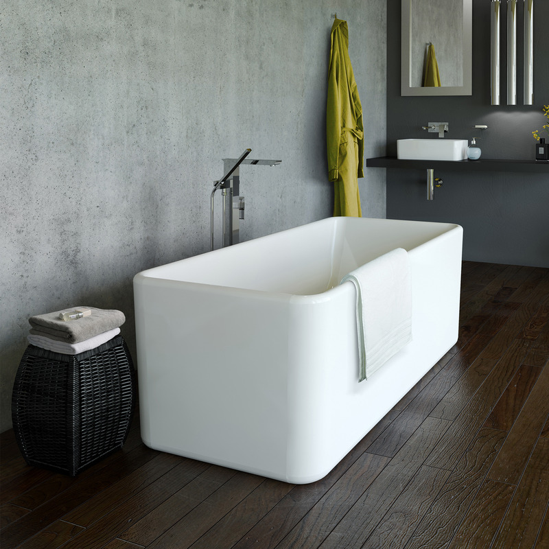 View Photo: Caroma Cube 1600 Freestanding Bath