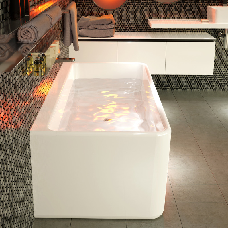 View Photo: Caroma Cube 1600 or 1800 Back To Wall Freestanding Bath
