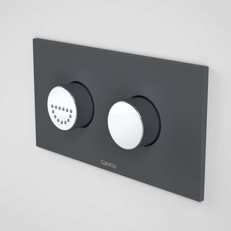 View Photo: Caroma Invisi Series II Round Dual Flush Plate & Buttons Life (plastic) afternoon daze