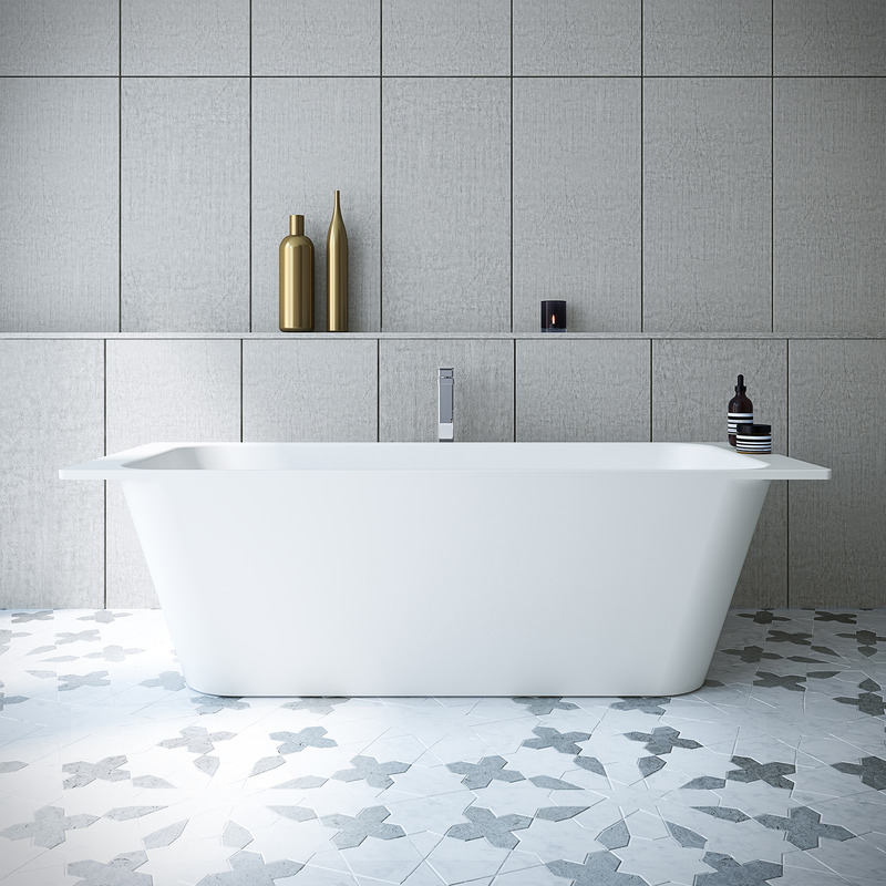 View Photo: Caroma Sunstone 1810 Solid Surface Freestanding Bath