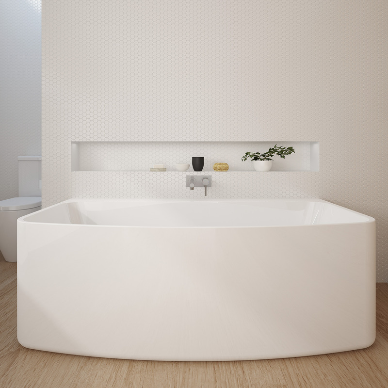 View Photo: Caroma Urbane 1675 Back To Wall Freestanding Bath