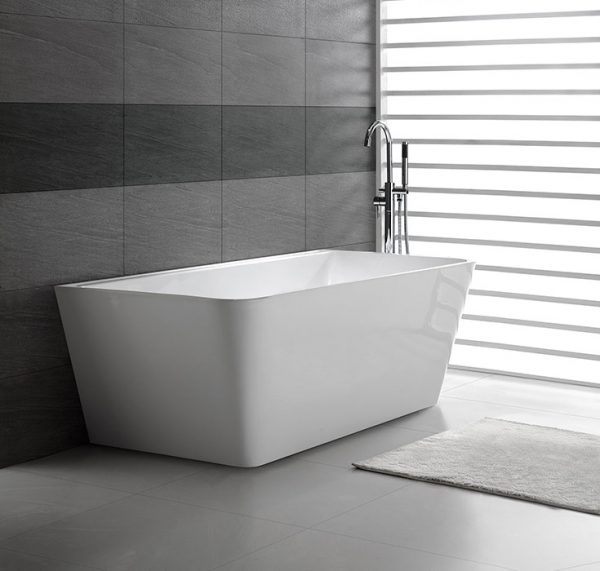 View Photo: Decina Aria Back to Wall Freestanding Bath