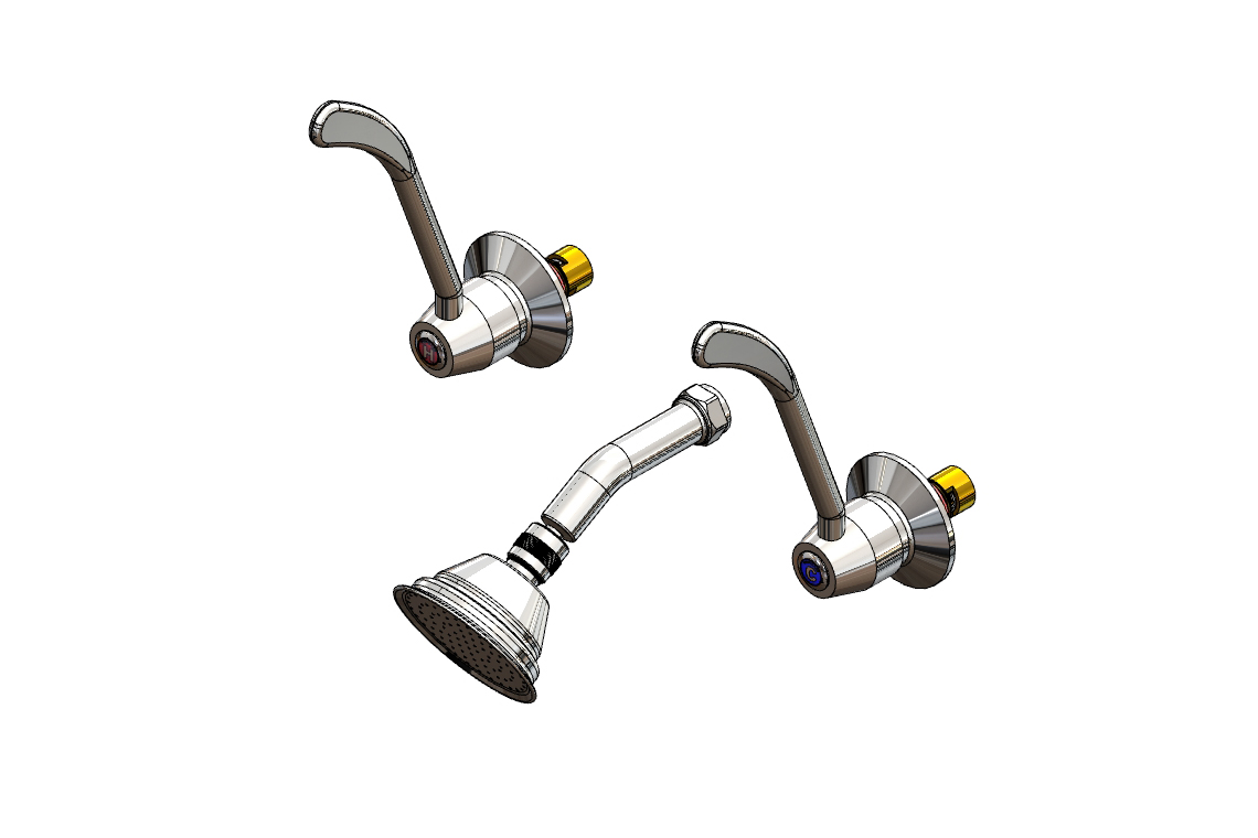 View Photo: Enware Lever Action Recess Set with SP261 Shower