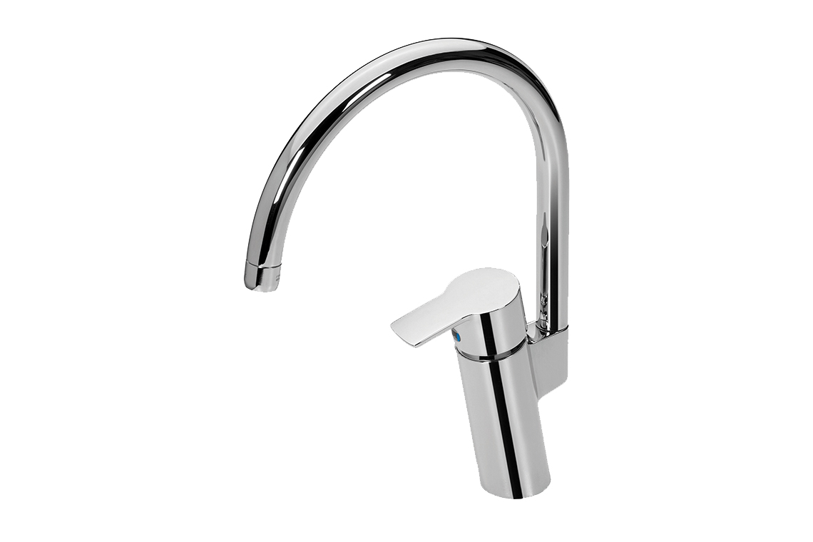 View Photo: Enware Oras Cubista Series Sink Mixer with Gooseneck Spout