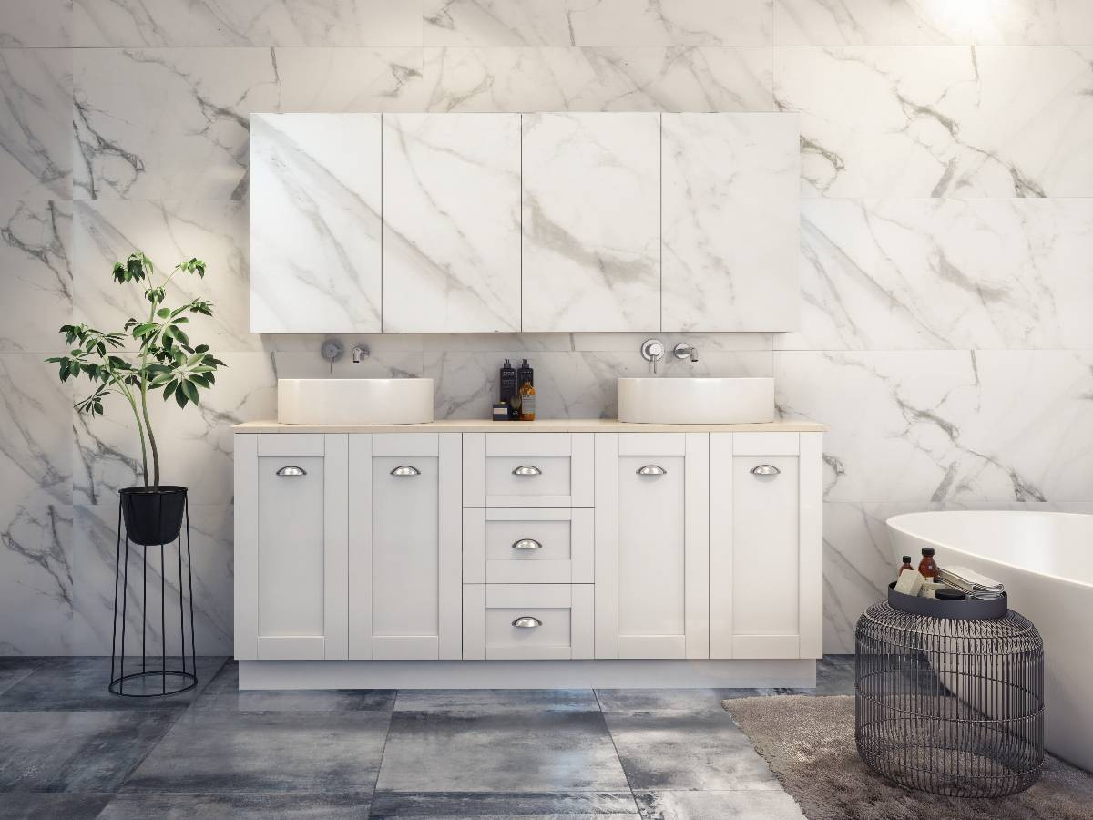 Bathroom vanities cabinets photos homeone page 7 for Bathroom cabinets 1800mm