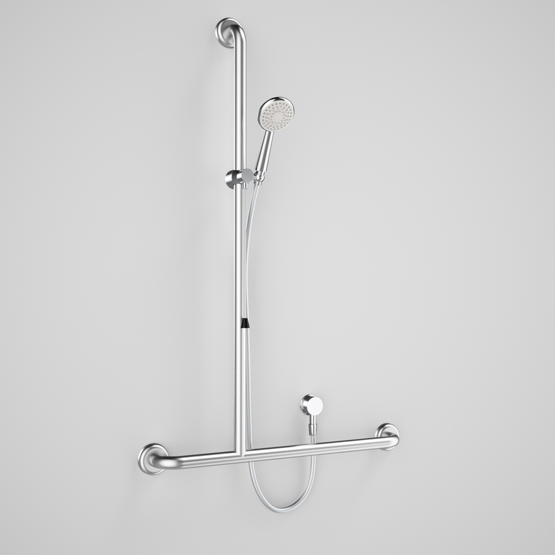 View Photo: Virtu Plus Starsafe Accessible Shower Set - inverted T Grab Rail LH