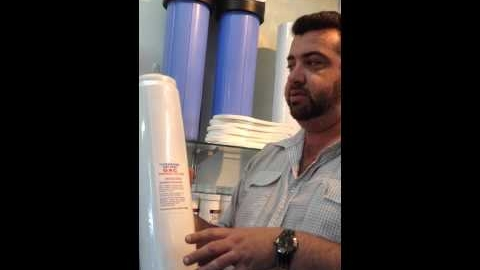 "Watch Video: Twin Big Blue BASICGRADE 20"" Whole House INC Filters!"