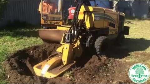 Watch Video: Stump Grinding - Vermeer SC1152 Stump Grinder