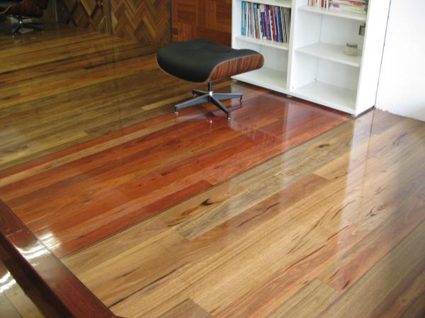 Solid strip timber flooring