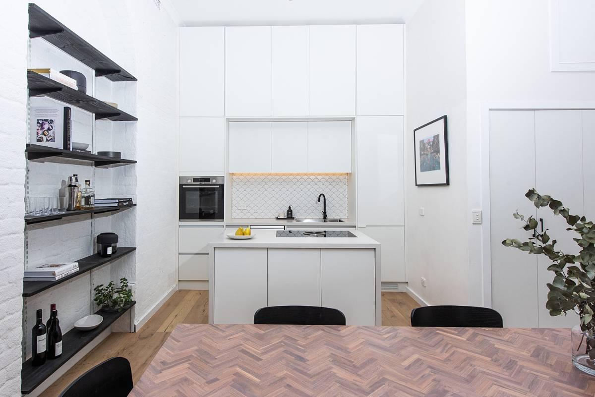 View Photo: White Kitchen Renovation in Melbourne CBD Apartment