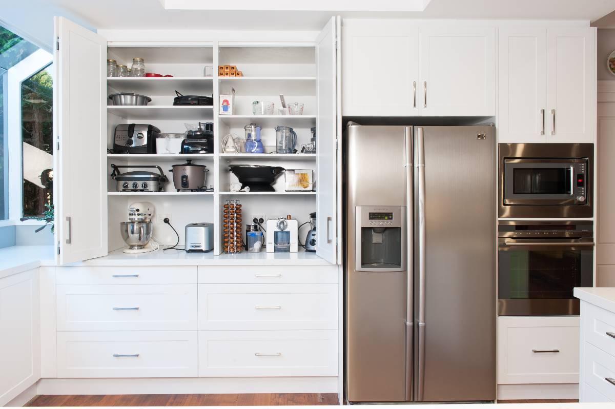 View Photo: Zesta Kitchens: Hidden Kitchen Appliance Cupboard